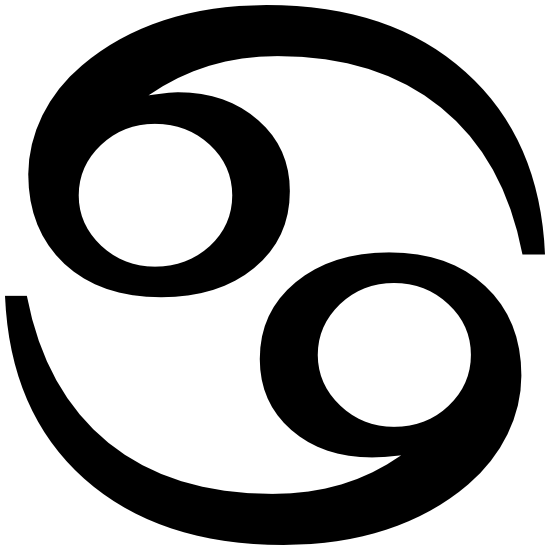 Astrology - Cancer Zodiac Symbol Sticker