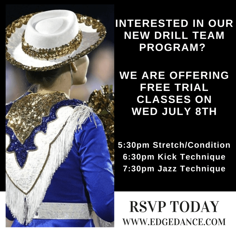 New Drill Team Program- Free Trial Classes (July 8th)