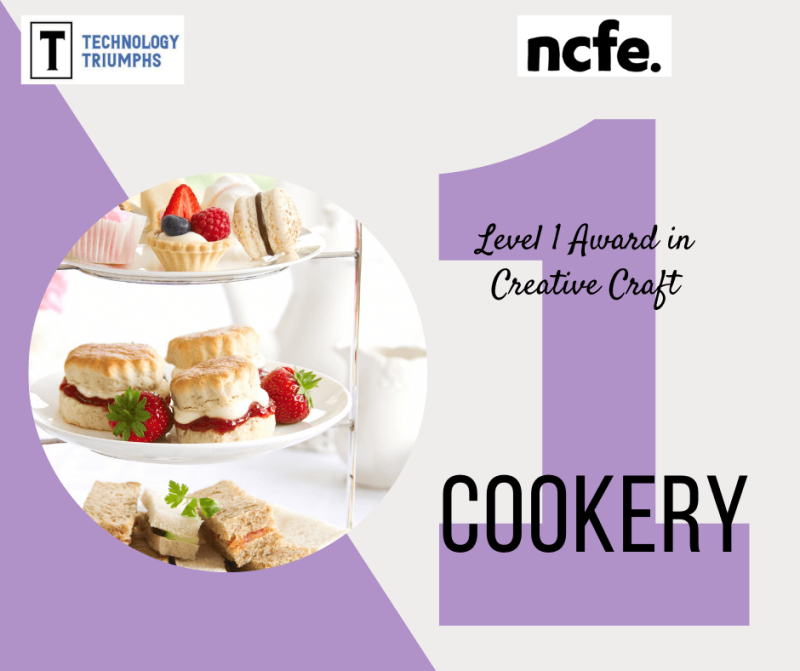 Level 1 Award in Creative Craft Cookery