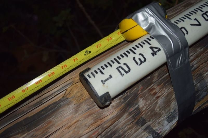 Former pole measure - 31' not 38' as reported