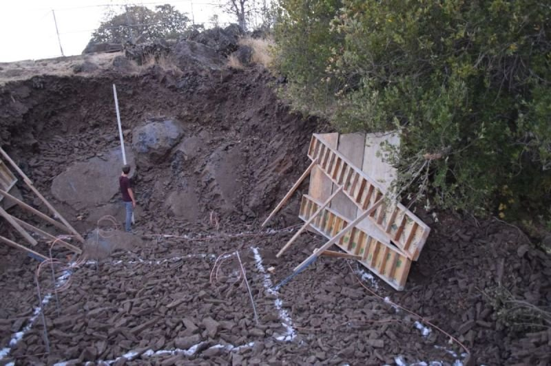 Enormous excavation for shed