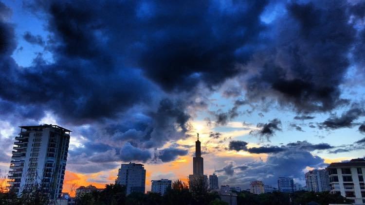 Santo Domingo Skyline by Jack Loomes