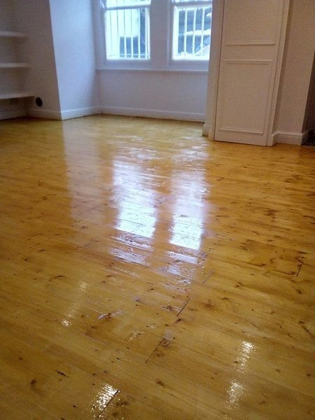 Basement Floor Sanded And Varnished Clapham Common Flooring
