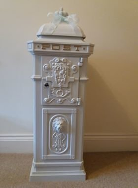 Victorian white post box
