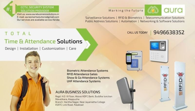 Attendance System Dealers in Kerala - AURA BUSINESS SOLUTIONS