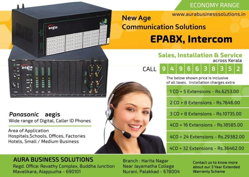 Aura - Leading EPABX System Dealers in Kerala - Intercom Dealers in Kerala
