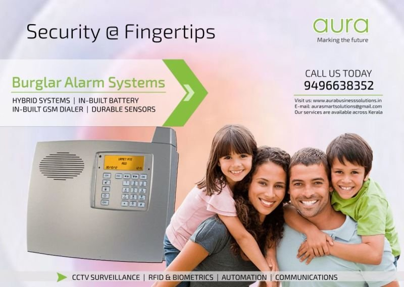 Burglar Alarm - Security Alarm Dealers in Kerala - AURA BUSINESS SOLUTIONS