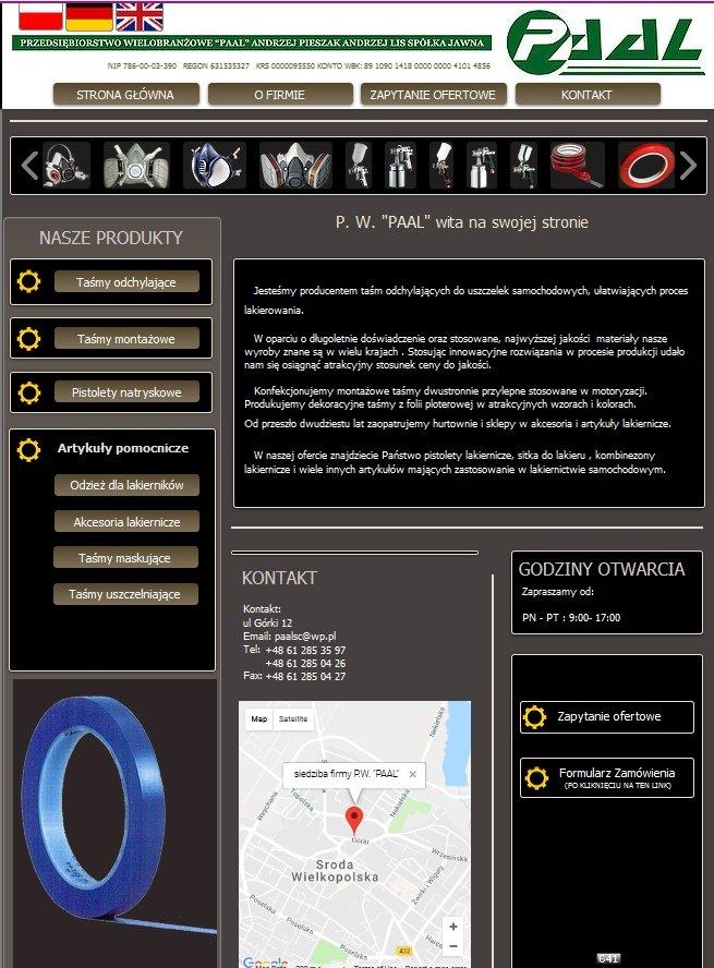 Strona firmy Paal