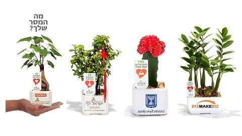 מתנות לטו בשבט מסרים ממותגים בעציצים