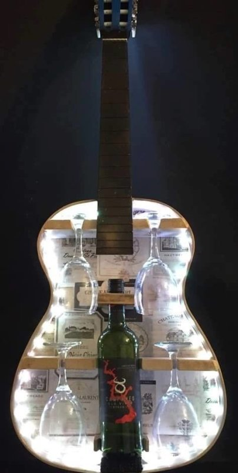 Guitar Wine Rack