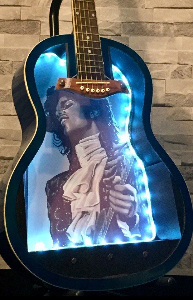 Prince artwork guitar