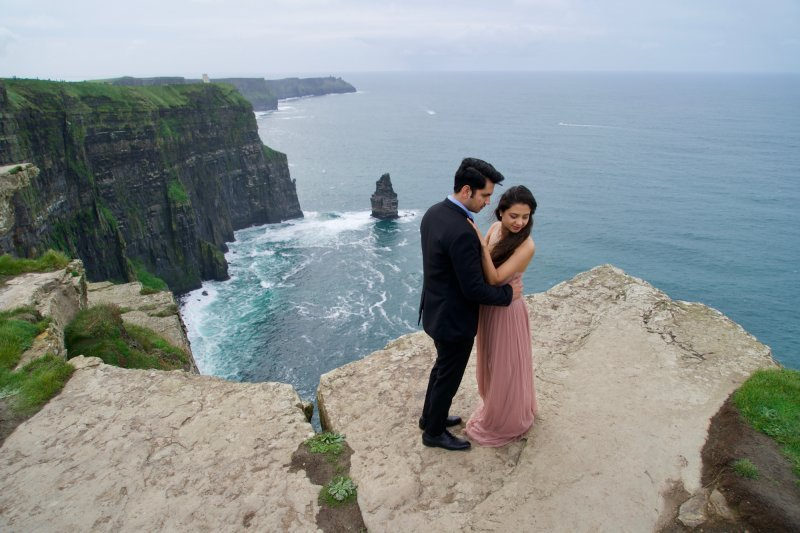 Ruchira & Bhomick Cliffs Of Moher Pre Wedding Shoot