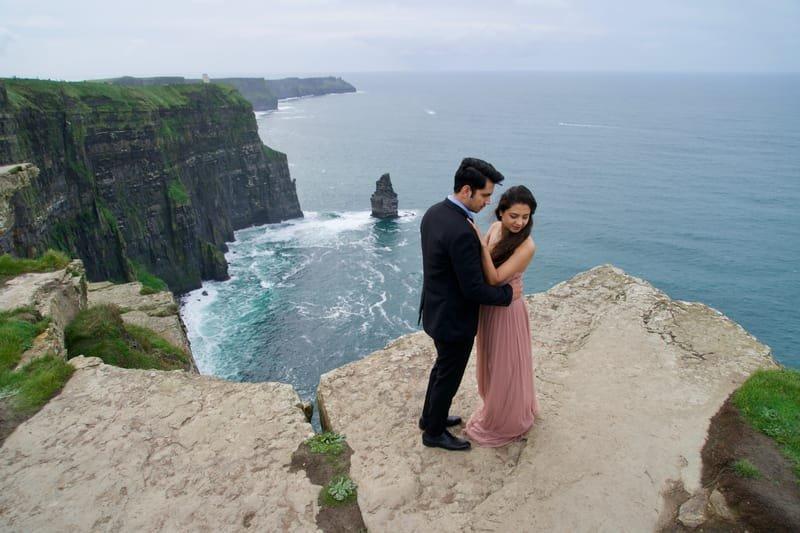Ruchira & Bhomick Cliffs Of Moher Pre Wedding Shoot