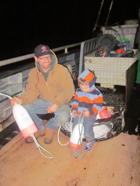 A young William and Ross between a Oregon Dungeness crab trip