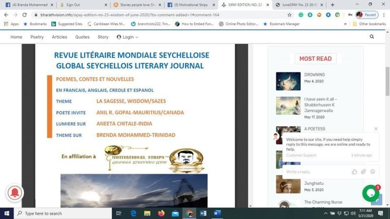 Author Brenda Mohammed is featured in SIPAY MAGAZINE