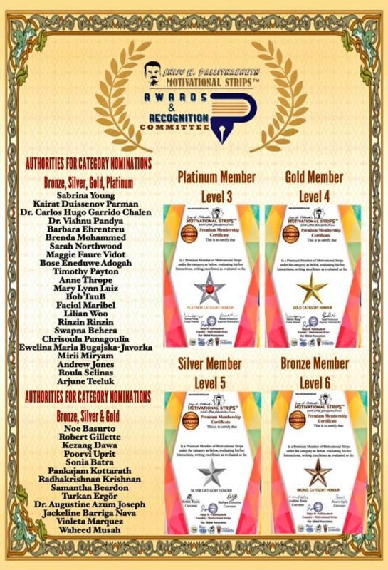 MOTIVATIONAL STRIPS AWARD & RECOGNITION COMMITTEE