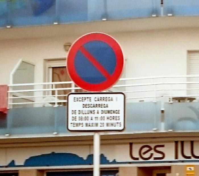 prohibit a l'Hotel les Illes