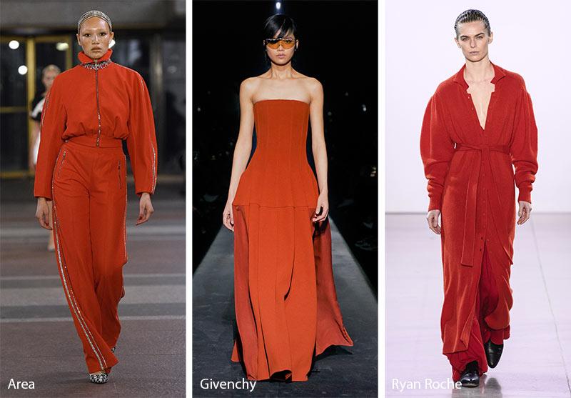 Tendances couleurs automne / hiver 2019-2020: rouge figue d'été