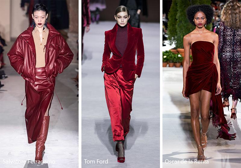 Tendances couleurs automne / hiver 2019-2020: vin rouge merlot