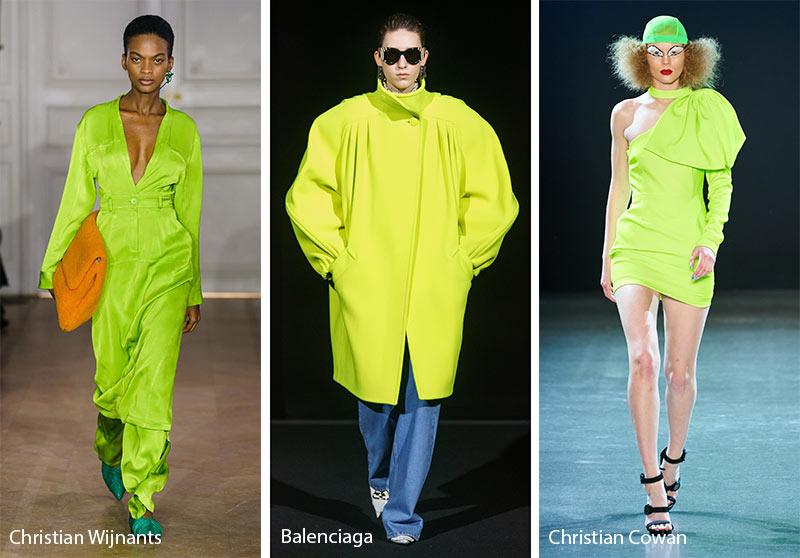 Tendances couleurs automne / hiver 2019-2020: Chartreuse