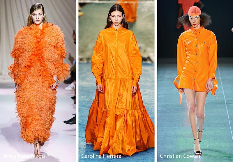 Tendances couleurs automne / hiver 2019-2020: tigre orange