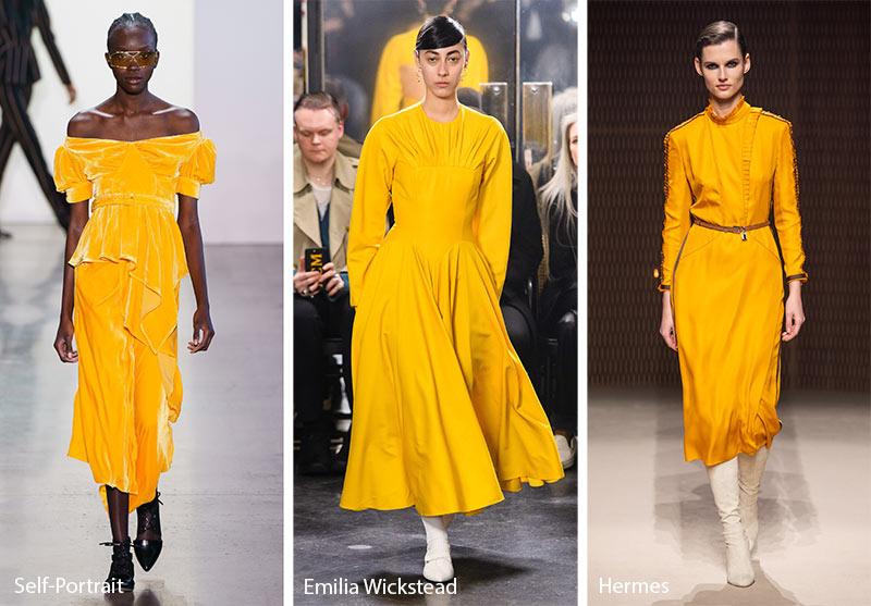 Tendances couleurs automne / hiver 2019-2020: jaune caramel