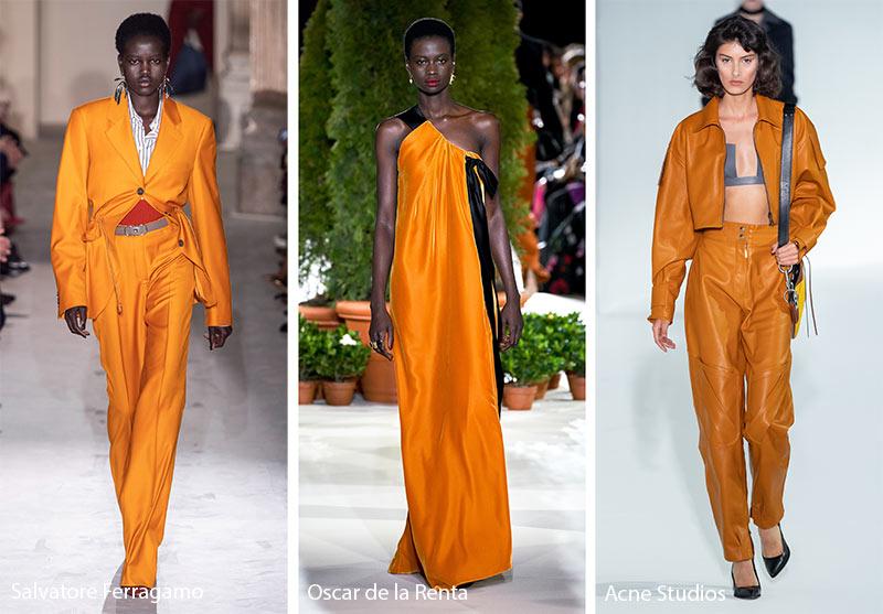 Tendances couleurs automne / hiver 2019-2020: jaune cheddar foncé, orange
