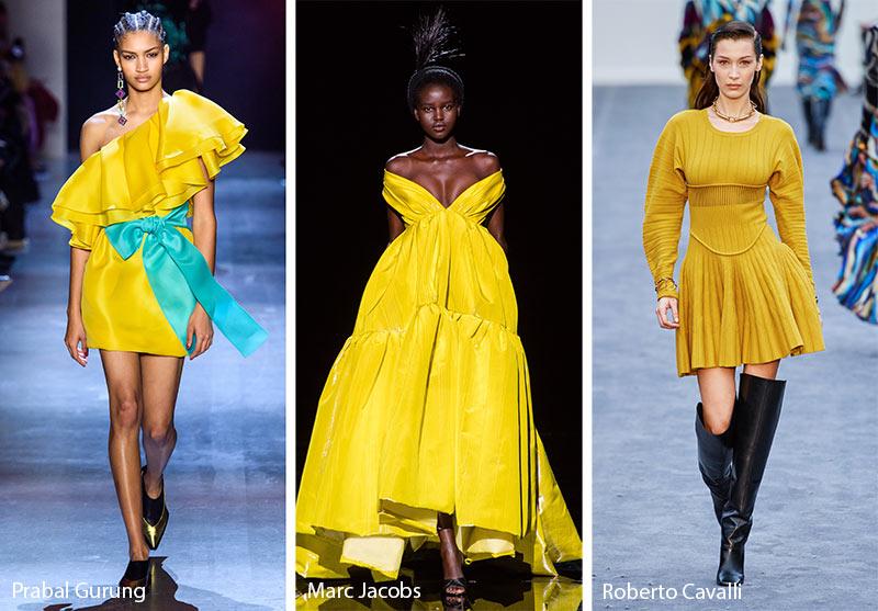 Tendances couleurs automne / hiver 2019-2020: jaune mousse antique