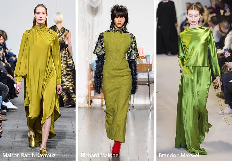 Tendances couleurs automne / hiver 2019-2020: vert olive