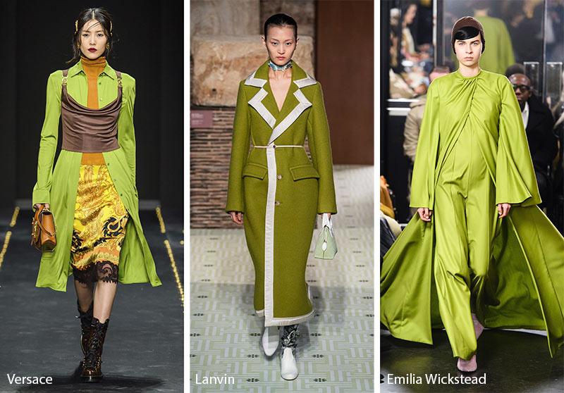 Tendances couleurs automne / hiver 2019-2020: vert guacamole