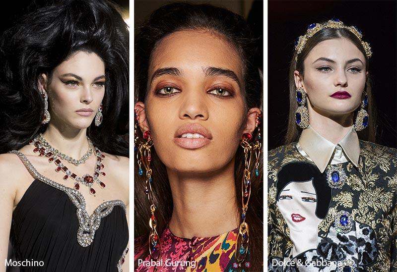 Tendances bijoux automne / hiver 2019-2020: pierres précieuses colorées