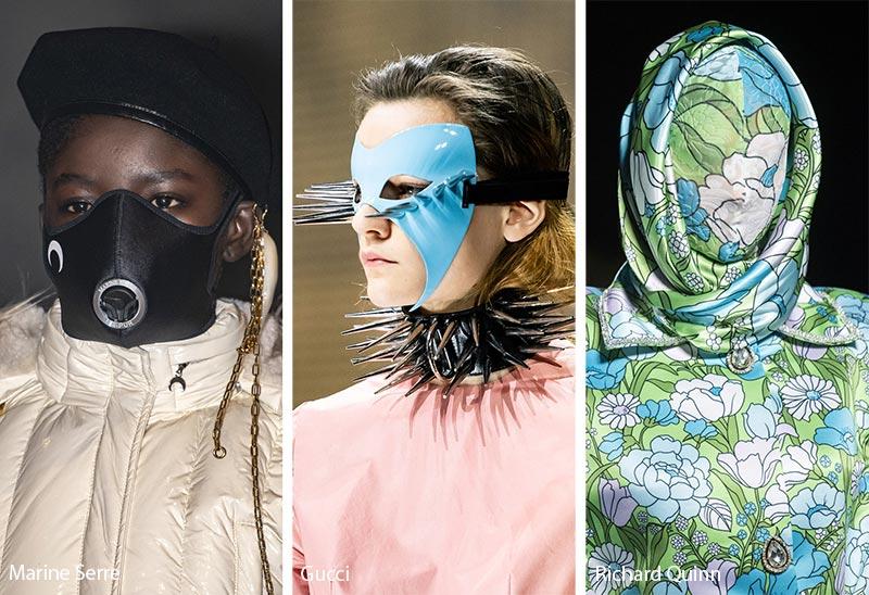 Tendances accessoires automne / hiver 2019-2020: masques faciaux