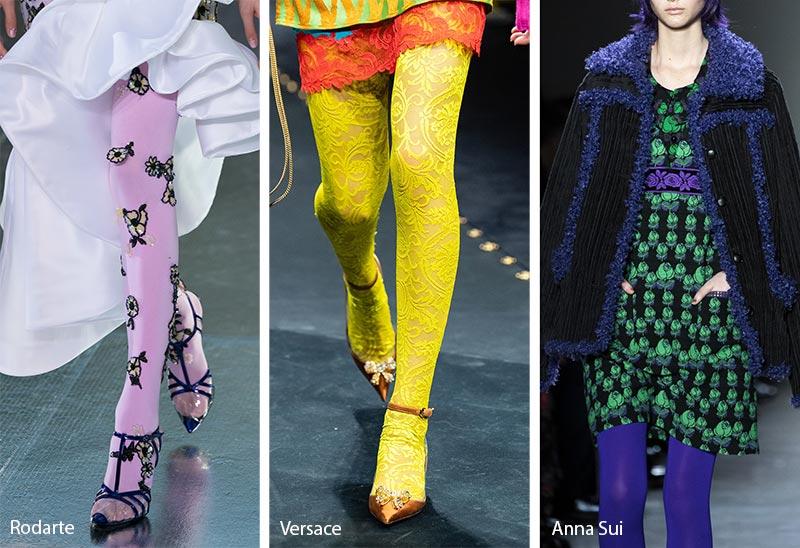 Tendances accessoires automne / hiver 2019-2020: collants colorés