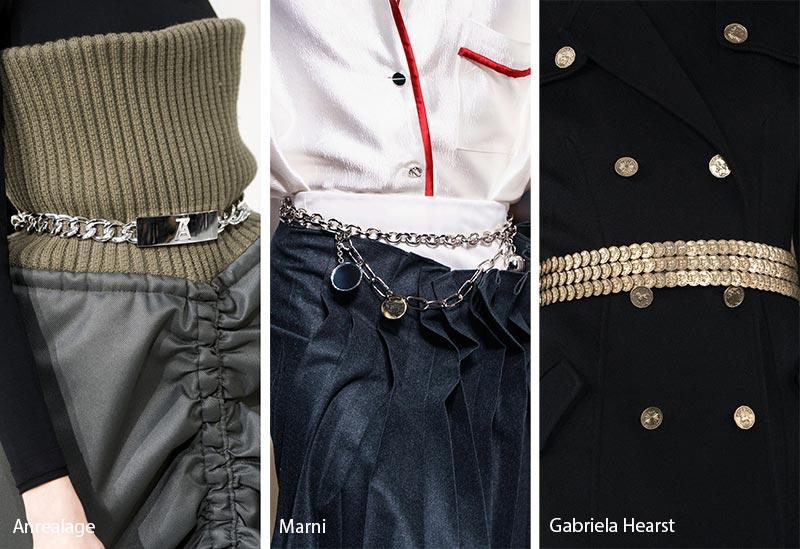 Tendances des accessoires automne / hiver 2019-2020: Courroies métalliques