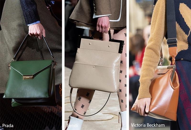 Tendances automne / hiver 2019-2020 pour les sacs à main: sacs / bourses minimalistes