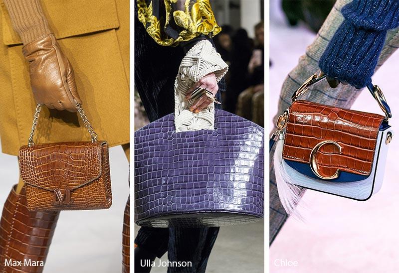 Tendances automne / hiver 2019-2020 pour les sacs à main: Sacs / Pochettes en cuir