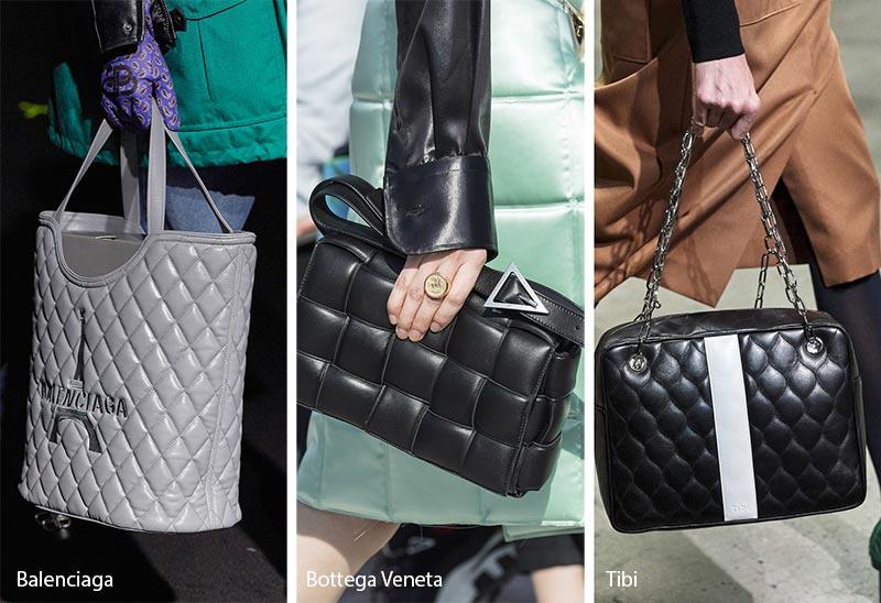 Tendances automne / hiver 2019-2020 pour les sacs à main: sacs / sacs à main matelassés