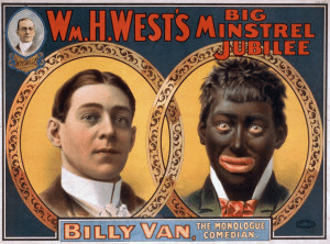 Original poster of Billy Van in Blackface
