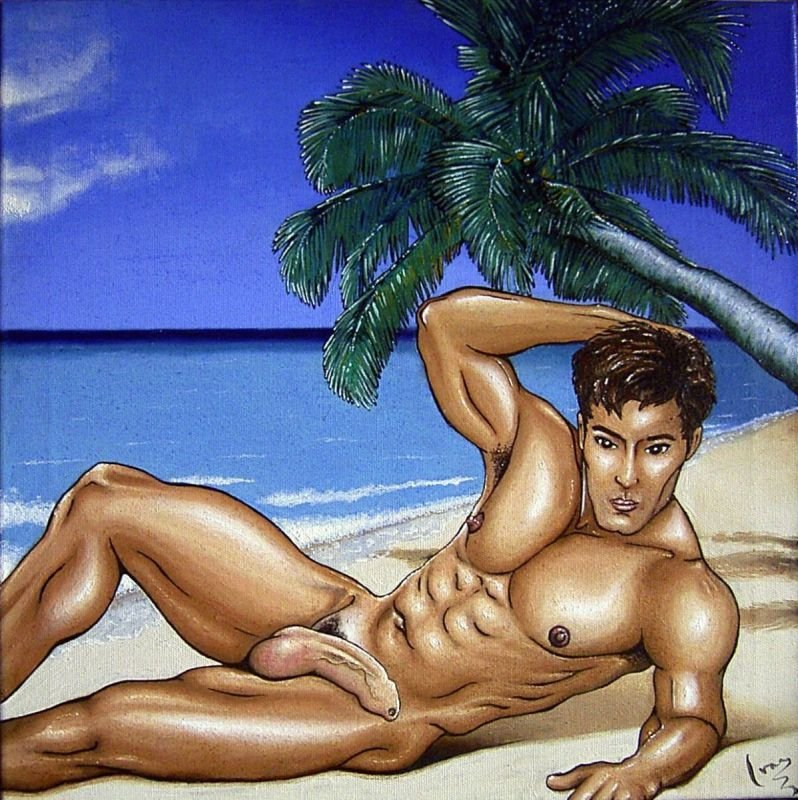 nude beach boy