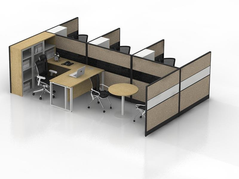 The advantages of screen cutting off the desk