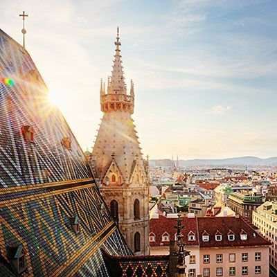 Blick vom Stephansdom, Wien