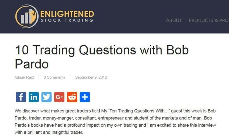 Bob Pardo answers Ten Trading Questions