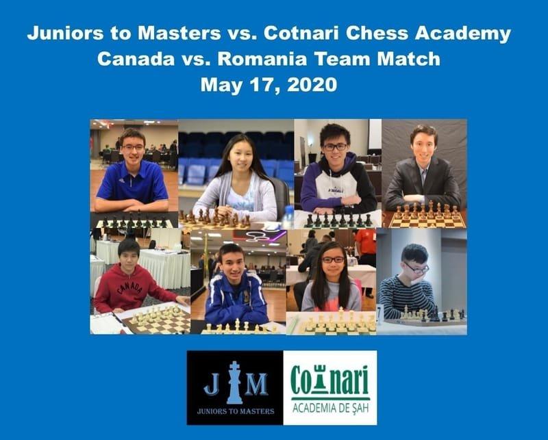 Juniors to Masters vs. Cotnari Chess Academy