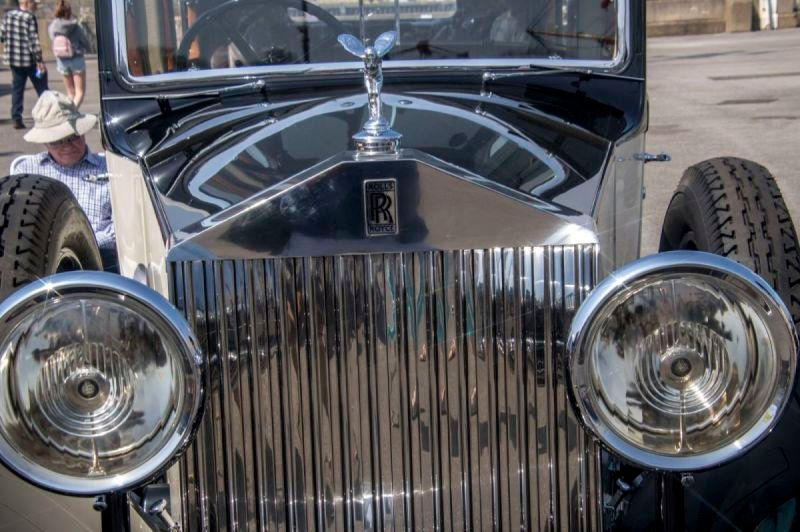 Classic Cars at Steam Transport event Chatham Dockyard 2019
