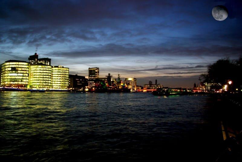 River Thames at Night, London
