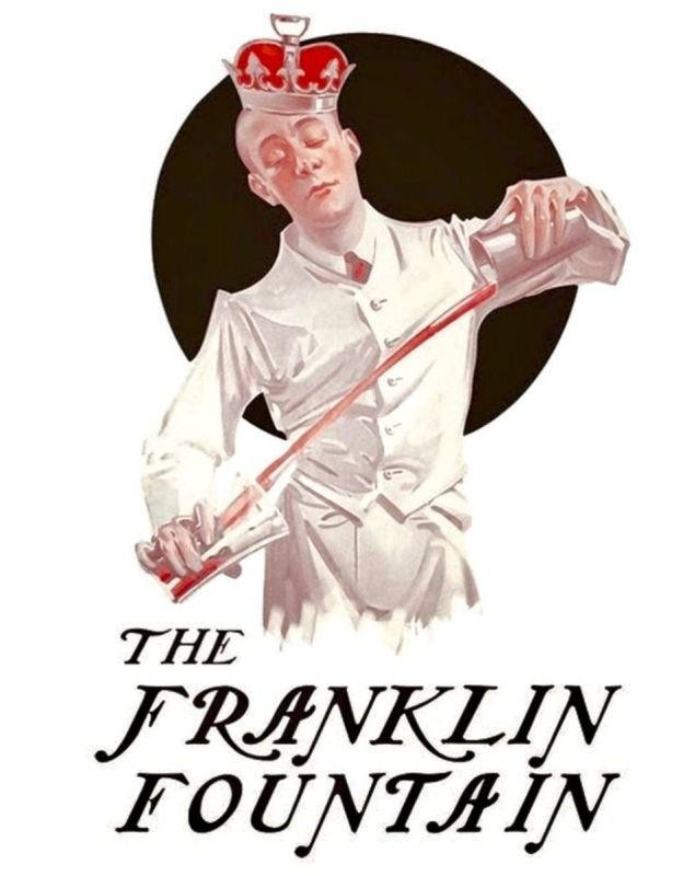 We proudly serve Franklin Fountain ice cream