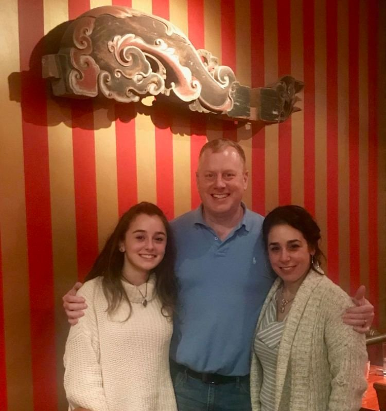 Paul and Marguerite Deignan... first date at Hunan 30 years ago... and two daughters later...