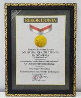 rekor MURI denature,sertifikat MUI denature,merk terdaftar denature,bpom denature,prestasi denature,denature hebat,sertifikat ISO 9001 de nature