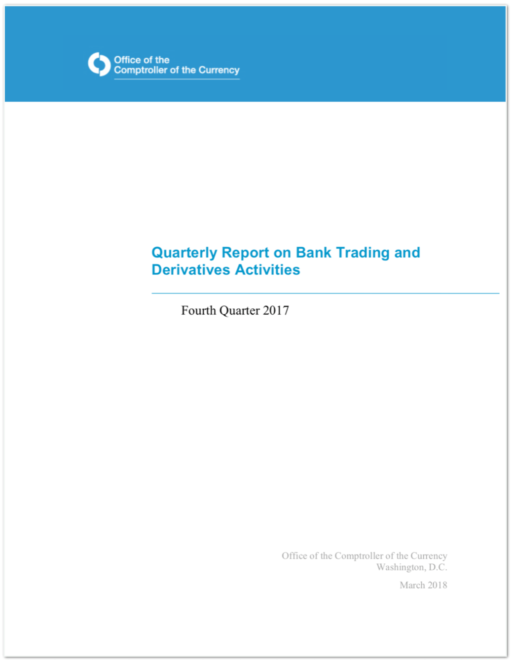 Quarterly Report on Bank Trading and Derivatives Activities