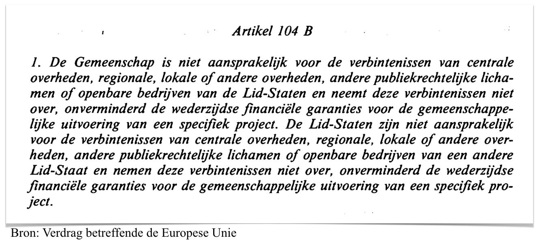 Artikel 104 B, Verdrag van Maastricht